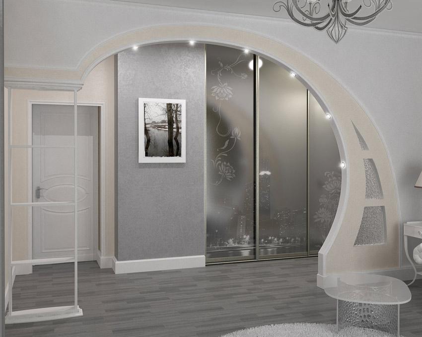 фото арка между коридором и залом это один
