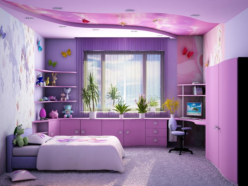Цвета обоев в детской комнате