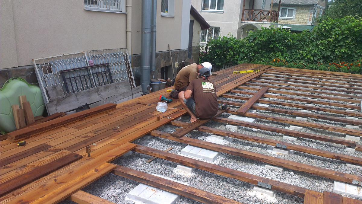 Деревянный пол для террасы своими руками фото 647