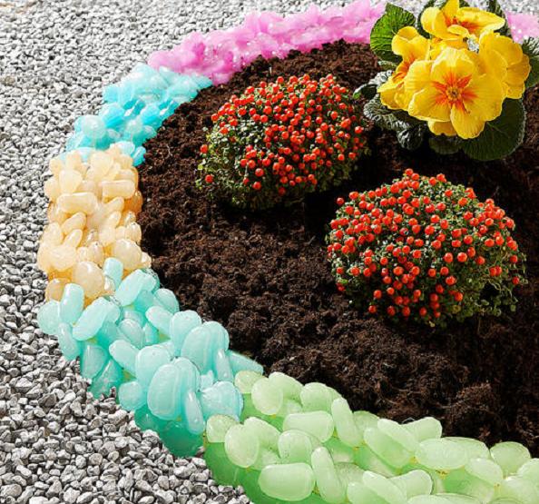 Бордюры для клумб: создание ограждений для цветников своими руками