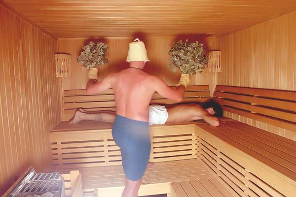 Температура в парной русской бани оптимальная