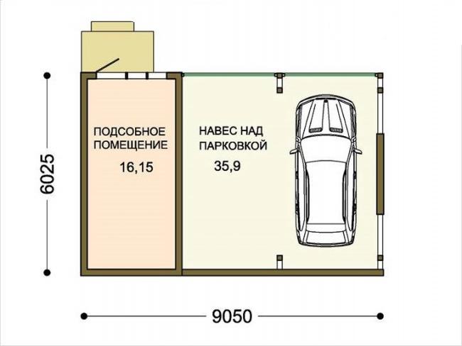 размеры подсобных помещений