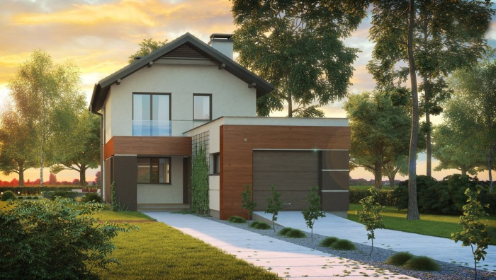 Проекты домов для узких участков