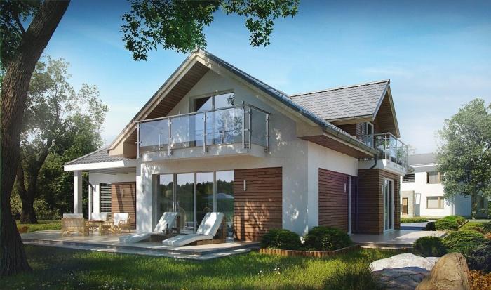 Проекты домов с мансардой и гаражом различные вариации построек