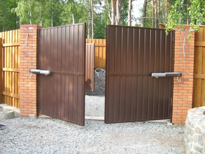 Ворота своими руками. Чертежи, фото и видео