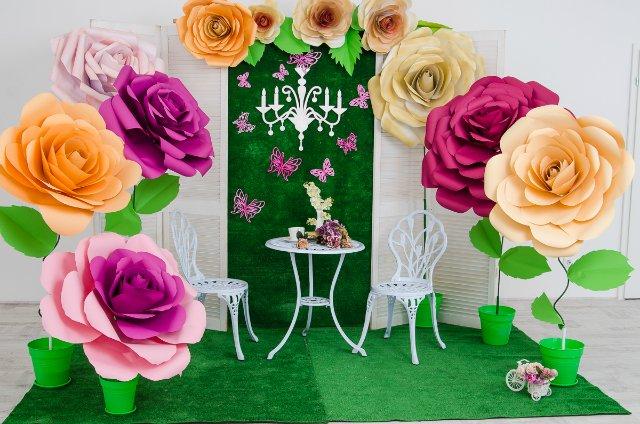 Как сделать цветок из бумаги для украшения фото 617