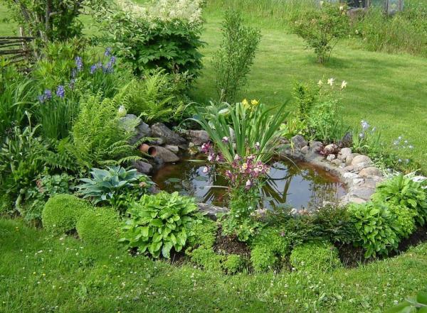 Декоративный пруд из покрышки своими руками (фото). Как сделать пруд из покрышки своими руками