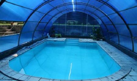 Навес для бассейна из поликарбоната своими руками