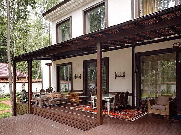 Открытая терраса на даче - советы по постройке, обустройству