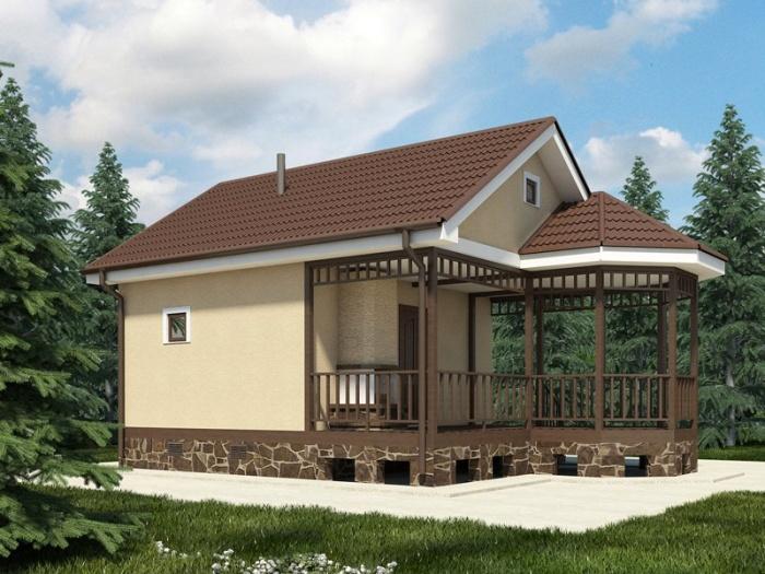 Проект двухэтажной бани из пеноблоков своими руками