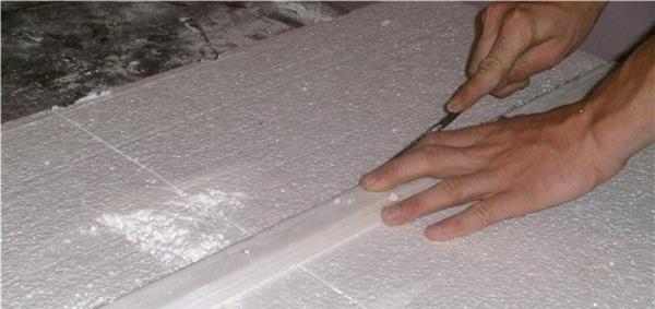 как порезать пенопласт в домашних