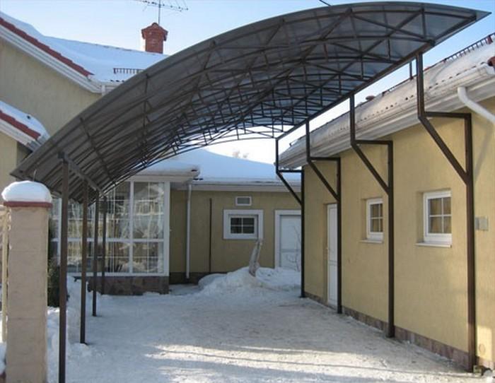 металлические гаражи сварные ворота