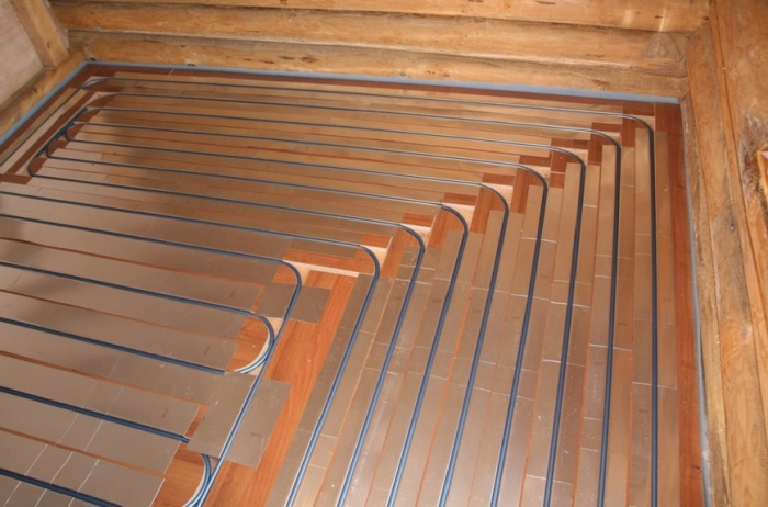 Как сделать тёплый деревянный пол 916