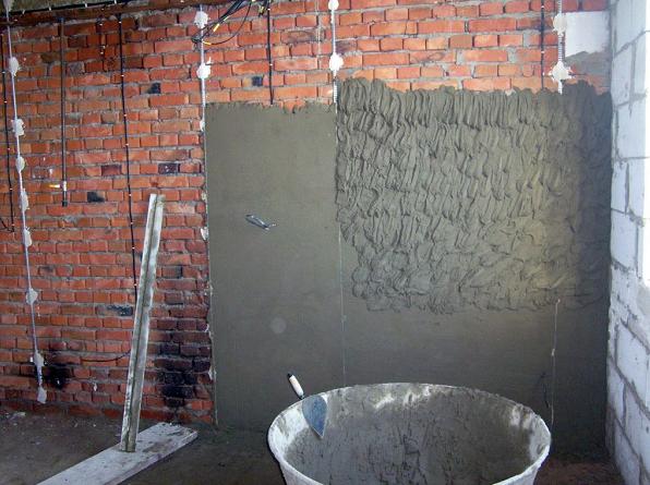 как сделать цементный раствор для штукатурки стен своими руками