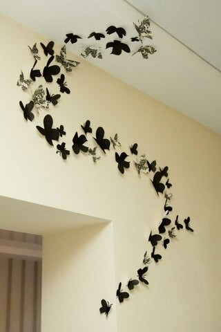 Декор стен бабочками своими руками фото 701