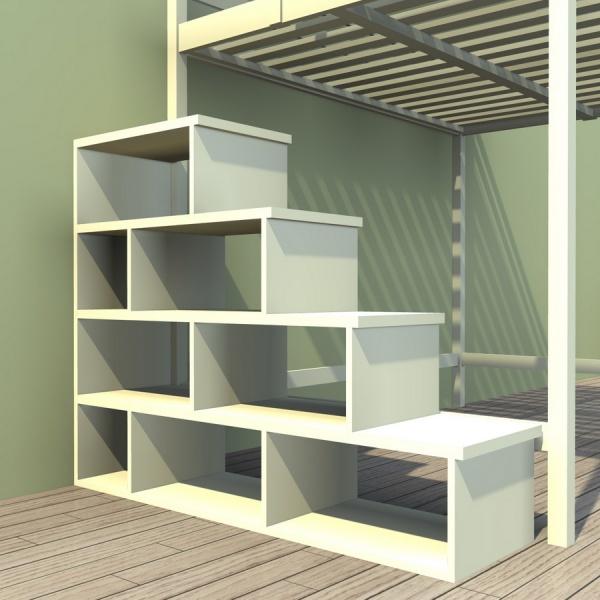 Лестница для двухъярусной кровати своими руками 542