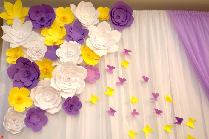 Как сделать цветок из бумаги для украшения фото 845