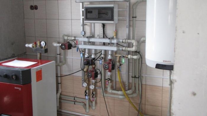 Водяной теплый пол с электрическим котлом