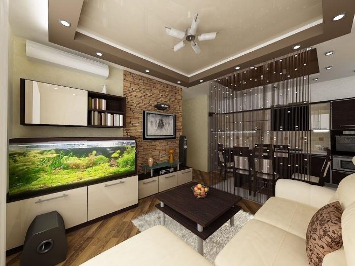 дизайн гостиной совмещенной с кухней 18 20 25 кв м фото