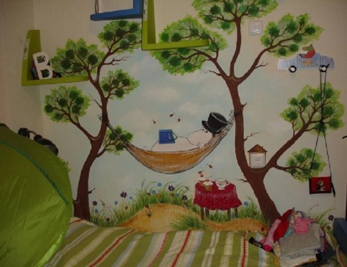 рисовать картинки на стену