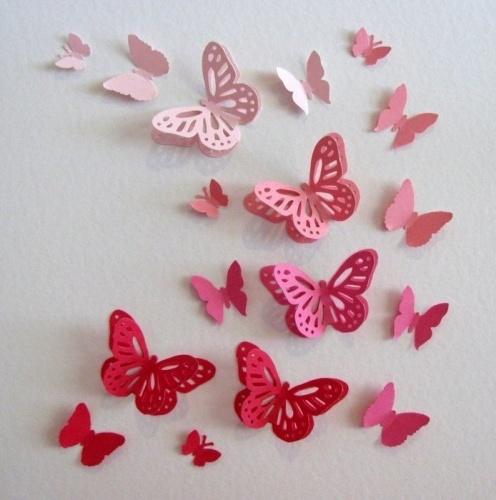 Декор стен бабочками своими руками фото 602