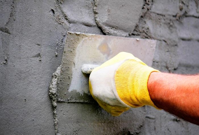 как наносят штукатурку цементный раствор