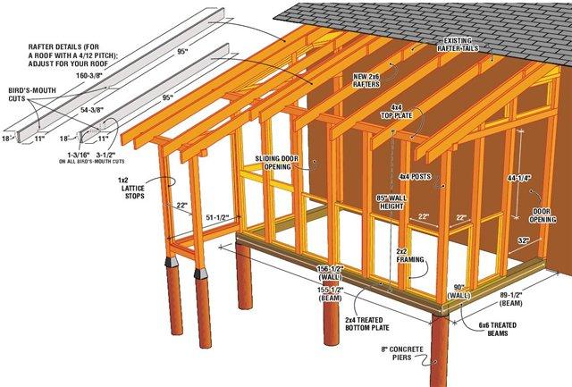 Строительство террасы своими руками фото 444