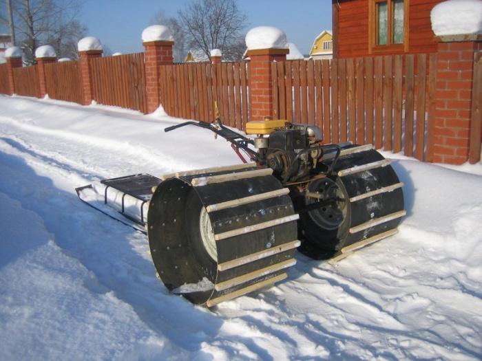 Самодельные снегоходы из мотоблока нева