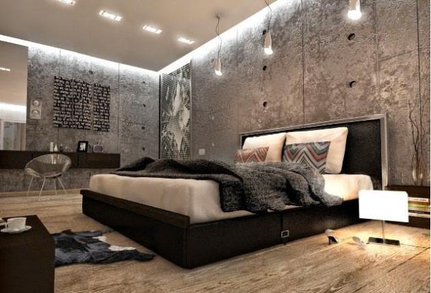спальня лофт фото