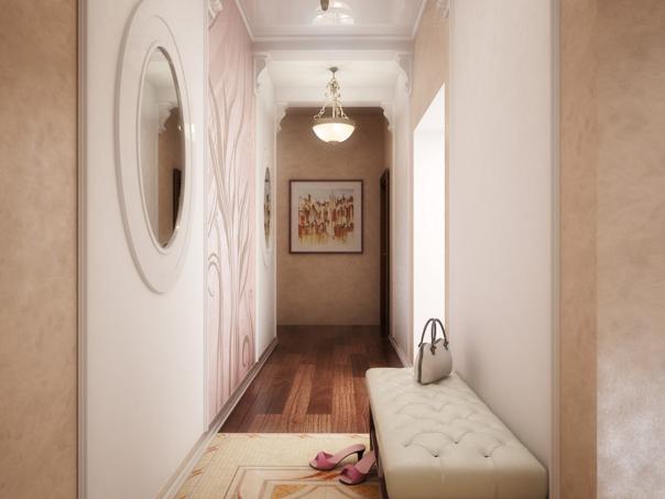 Дизайн прихожей для узкого коридора + фото
