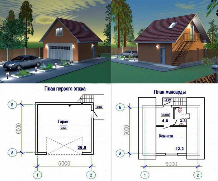 Готовые проекты жилых гаражей купить гараж ракушку бу москва