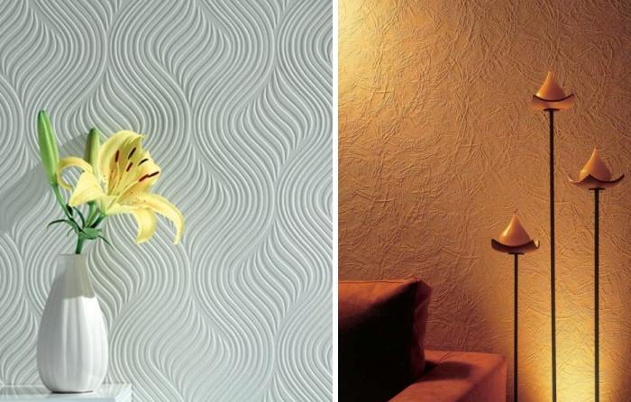Фактурная краска для стен своими руками видео 601
