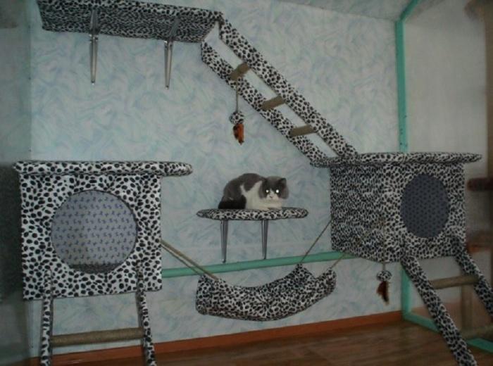 Домик для кошки своими руками: как сделать дом для кота из картонных коробок, фанеры, ткани