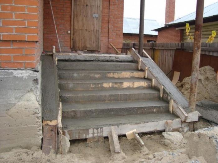 Купить крыльцо к дому из бетона температура застывания цементного раствора