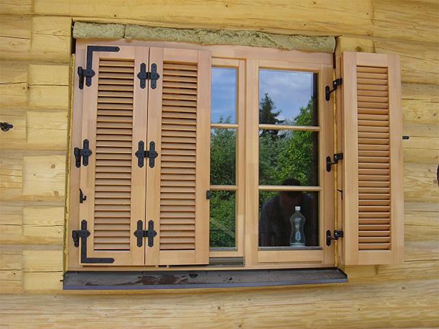 Как сделать ставни на окна деревянные