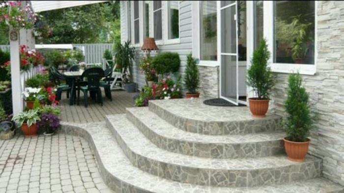 Как сделать бетонное крыльцо в частном доме