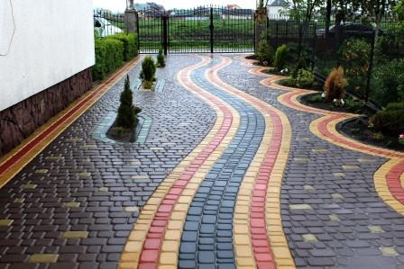 Укладка тротуарной плитки ромб схемы  фото