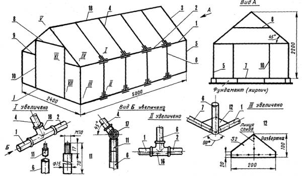 Теплица из профильной трубы своими руками (53 фото): дуги для каркаса, чертежи с размерами и пошаговое изготовление самодельных теплиц