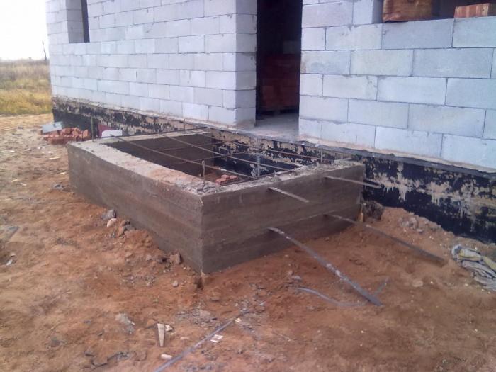 Фундамент под крыльцо частного дома