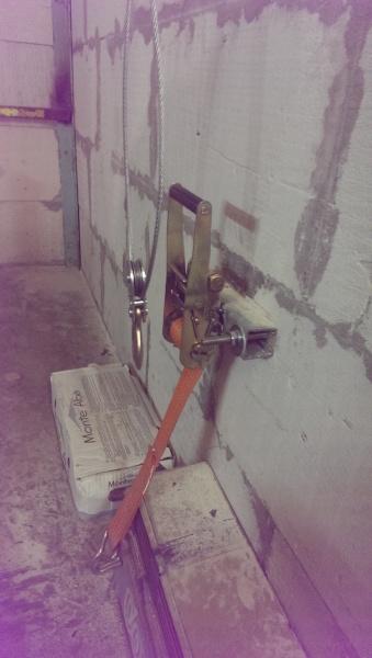 966 11 - Хранение прицепа в гараже на боку