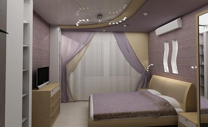 современные идеи дизайна маленькой спальни