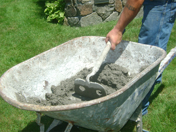 бетон ручную