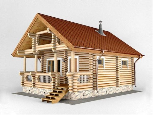 Популярные проекты бани, домов с террасой с фото
