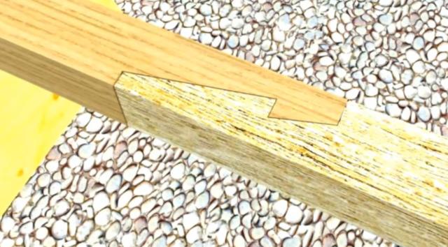 Соединение бруса
