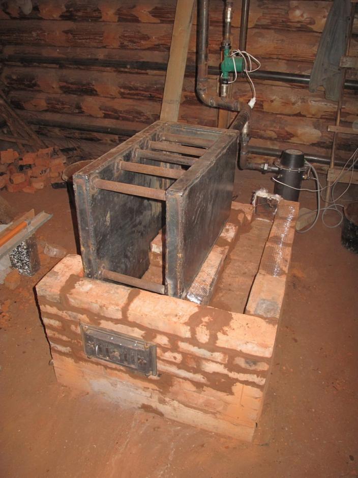 Печь для бани с подогревом воды