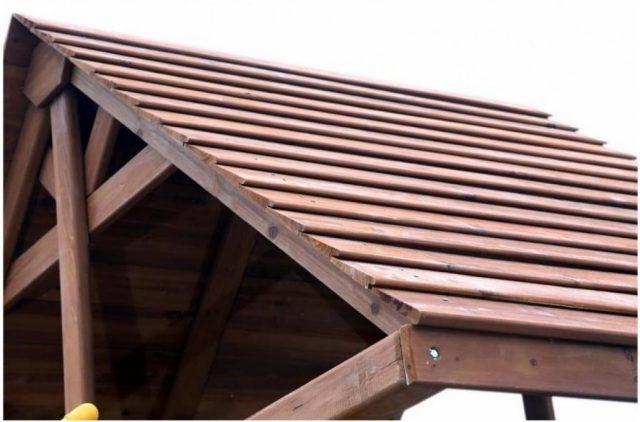 Крыша из теса