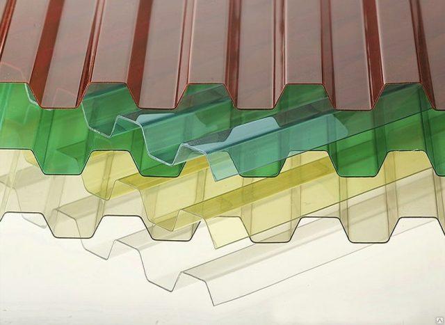 Виды и размеры листов поликарбоната