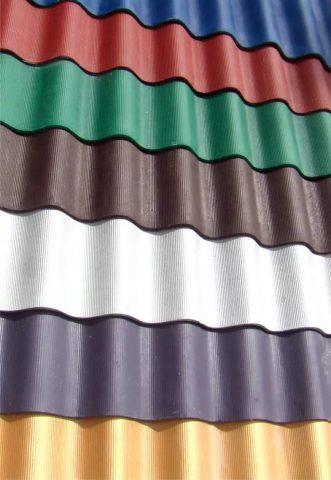 Шифер цветной волновой и плоский