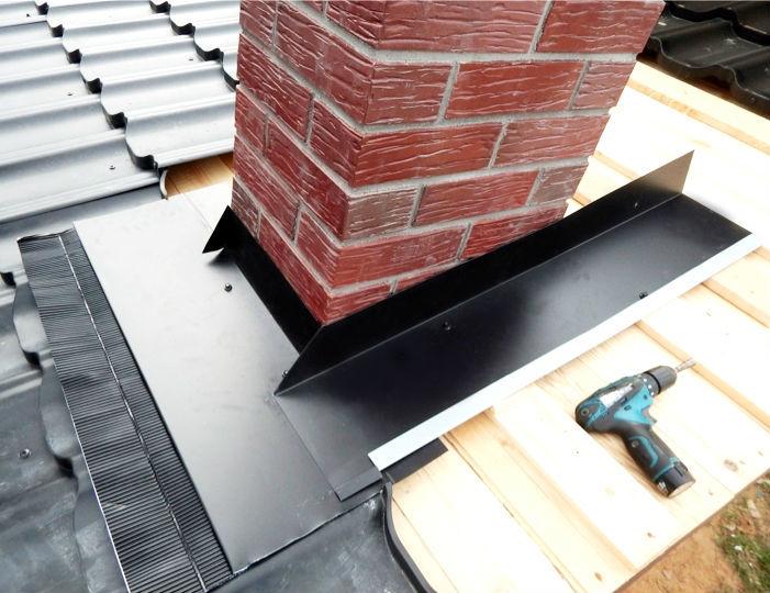 планка примыкания к стене для металлочерепицы