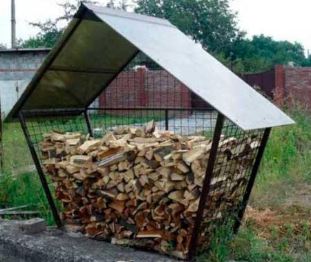 Как сделать навес для дров своими руками на даче